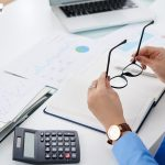 Bookkeeping using modern software and papers