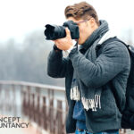 Employed man freelancing as a photographer Concept Accountancy Newcastle